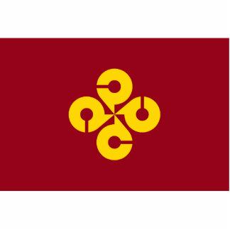 Shimane Prefecture, Japan flag Standing Photo Sculpture