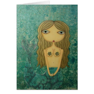 """Shimmer II"" 5 x 7 inch Mermaid Greeting Card! Greeting Card"
