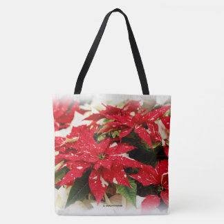 Shimmer Surprise Poinsettias Tote Bag