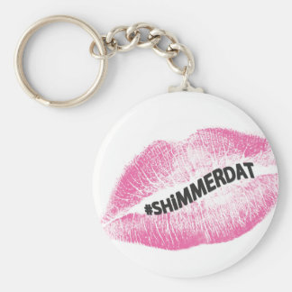 """#ShimmerDat"" Collection Basic Round Button Key Ring"