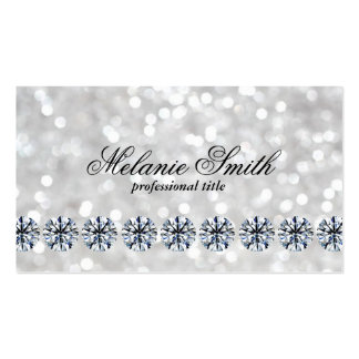 Shimmering 3 | Diamonds Pack Of Standard Business Cards