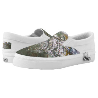 Shimmering Abalone Seashell, Beautiful Nature Slip-On Shoes