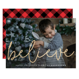Shimmering Believe Photo Card
