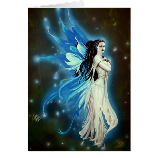 Shimmering Blue Faerie - Greetings Card by Neil
