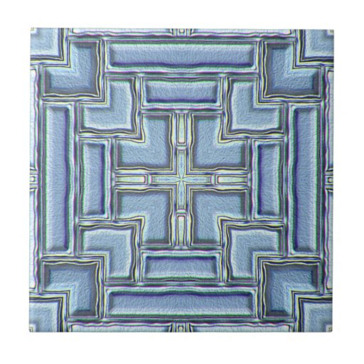 Shimmering Blue Inlay Tiles