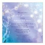 Shimmering Blues Unique Bridal Shower 13 Cm X 13 Cm Square Invitation Card