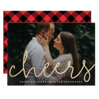 Shimmering Cheers Photo Card