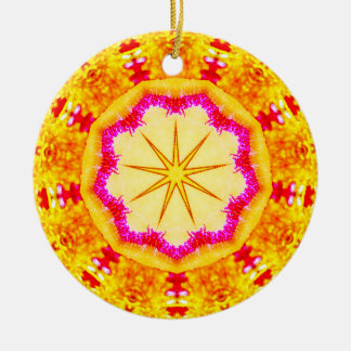 Shimmering Christmas Star Fractal Christmas Ornament