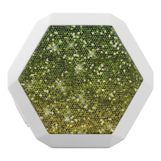 Shimmering Dark Green Gold Glitters