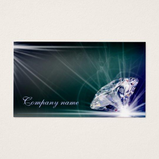 Shimmering Diamond Jeweller Business Card