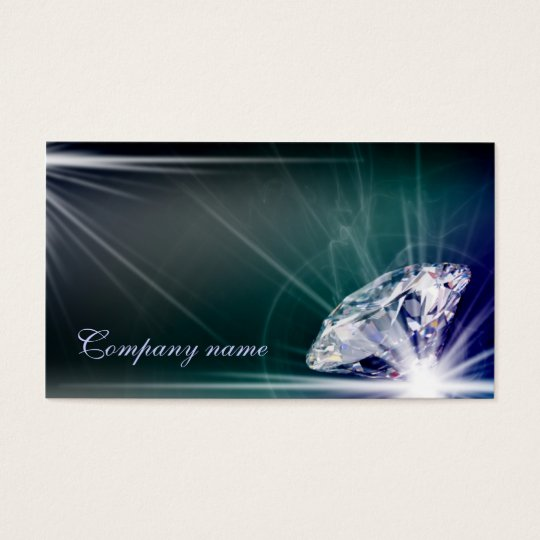 Shimmering Diamond Jeweller Business Card