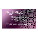 shimmering diamonds pink business card templates