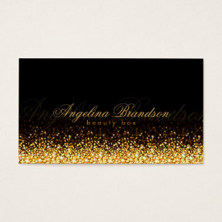 Shimmering Gold Beauty Expert Damask Black Card