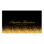 Shimmering Gold Beauty Expert Damask Black Card Pack Of Standard Business Cards