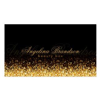Shimmering Gold Beauty Expert Damask Black Card Pack Of Standard Business Cards