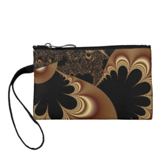 Shimmering Gold Parachutes Abstract Coin Purse