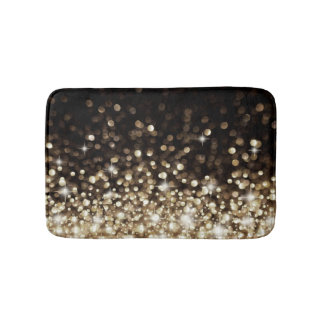 Shimmering Gold Sparkle Stylish Bath Mat