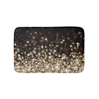 Shimmering Gold Sparkle Stylish Bath Mat Bath Mats