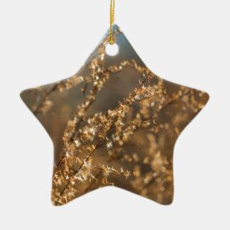Shimmering Golden Prairie Grass Christmas Tree Ornament