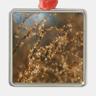 Shimmering Golden Prairie Grass Christmas Ornament