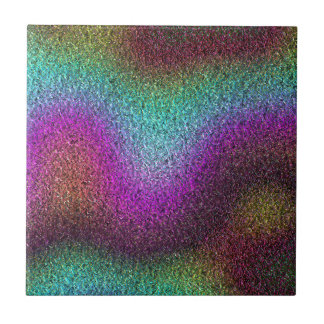 Shimmering gradients small square tile