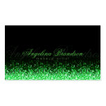 Shimmering Green Makeup Artist Damask Black Card Pack Of Standard Business Cards