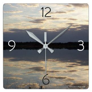 Shimmering Lake clock