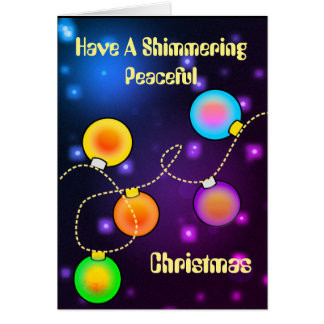 Shimmering Peaceful Christmas Card