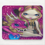 """Shimmering Pink Dragon"" Mousepad"