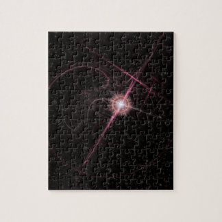 Shimmering Pink Star Burst Puzzle 110 Pieces