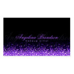 Shimmering Purple Makeup Artist Damask Black Card Pack Of Standard Business Cards