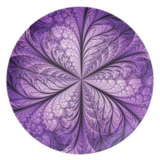 Shimmering Purple Melamine Plate