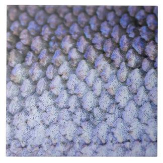 Shimmering Salmon Large Square Tile