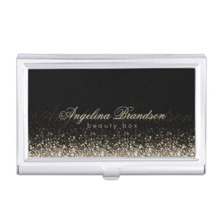 Shimmering Silver Beauty Expert Damask Holder Case For Business Cards