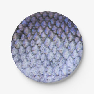 Shimmering Silver Salmon Paper Plate