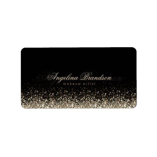 Shimmering Silver Star Makeup Artist Label Address Label