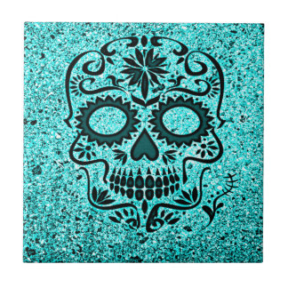 shimmering skull ceramic tiles