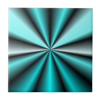 Shimmering Teal Satin Small Square Tile