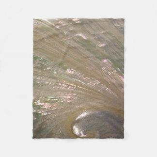 Shimmering White Abalone Seashell, Beautiful Fleece Blanket