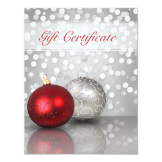 Shimmery Christmas Ornaments - Gift Certificate Card