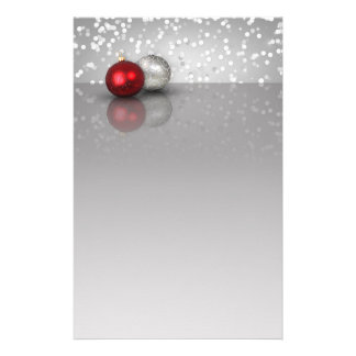 Shimmery Christmas Ornaments - Stationery