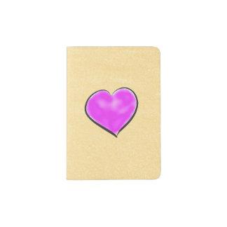 Shimmery Cream Purple Heart Passport Holder