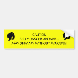 Shimmy Without Warning Sticker Bumper Sticker