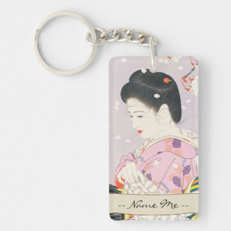Shimura Tatsumi Five Figures of Modern Beauties Key Ring