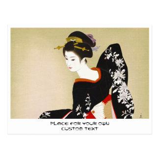 Shimura Tatsumi Two Subjects of Japanese Women Postcard