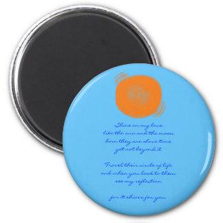 Shine 6 Cm Round Magnet