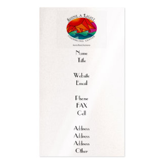 Shine a Light Counseling Center Pack Of Standard Business Cards
