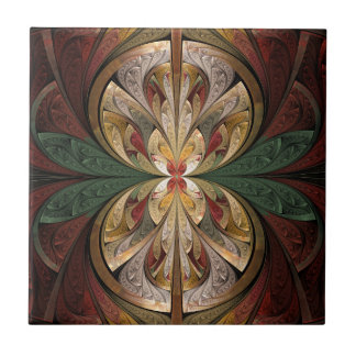 Shine and Rise Abstract Stained Glass Tile