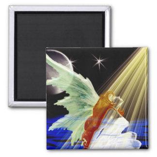 Shine Angel Square Magnet
