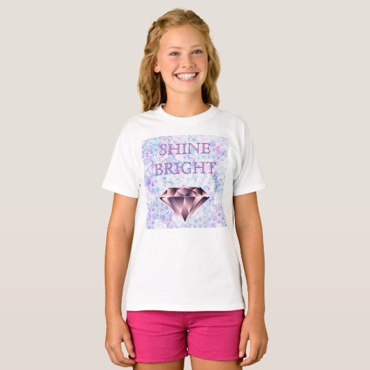 SHINE BRIGHT Brilliant Diamond White T Shirt